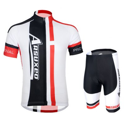 Arsuxeo ZSS51 Men Breathable Cycling Short Sleeve Suit
