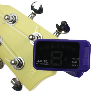 AROMA AT - 100 Portable Clip-on Electric Tuner Backlit Screen for Chromatic Guitar Bass