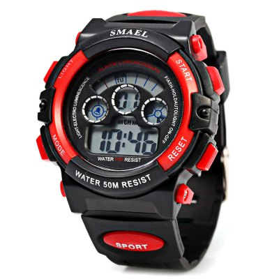 SMAEL 0508 50M Water Resistant Sports Digital Teens Watch