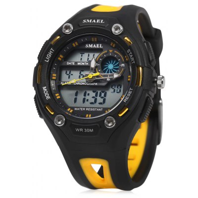 SMAEL 1339B Dual Movt Sports LED Watch 30M Water Resistant