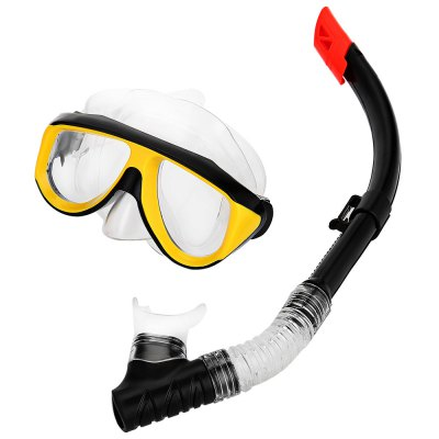 Silicone Diving Mask Dry Snorkel Set for Adult