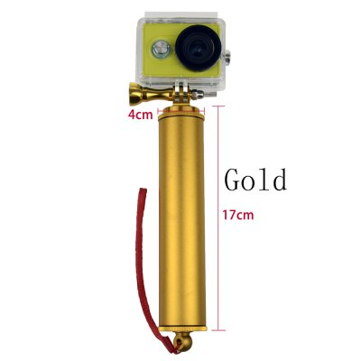 Aluminum Alloy Floaty Grip BobberAction Cameras &amp; Sport DV Accessories<br>Aluminum Alloy Floaty Grip Bobber<br><br>Accessory type: Floaty Bobber<br>Apply to Brand: Amkov,Dazzne,Eken,Elephone,FIREFLY,GitUp,Gopro,MEEEGOU,Mobius,Ordro,Polaroid,SJCAM,Soocoo,Xiaomi<br>Compatible with: GoPro Hero Series, Isaw, MEE+5, Mobius Action Sports Camera, Polaroid Cube, SJ4000, SJ4000 Plus, SJ4000 WiFi, SJ5000, SJ6000, SJ7000, SJCAM 4000 plus, SJCAM 5000 plus, SJCAM M10, SJCAM M10 Plus, GoPro Hero 4 Session, Gopro Hero 4, A9, Action Camera, AMK 5000, AMK 5000S, Dazzne P2, Dazzne P3, EKEN H9, Elephone Explorer Pro, FIREFLY 5S, Gopro Hero 3 Plus, Gopro Hero 3, Gopro Hero 2, Gopro Hero 1, Gitup Git2, GitUp Git1, FIREFLY 6S<br>Material: Alluminum Alloy<br>Package Contents: 1 x Floaty Bobber + Screw + Screw Cap + Hand Rope<br>Package size (L x W x H): 20.00 x 7.00 x 7.00 cm / 7.87 x 2.76 x 2.76 inches<br>Package weight: 0.2000 kg<br>Product size (L x W x H): 17.00 x 4.00 x 4.00 cm / 6.69 x 1.57 x 1.57 inches<br>Product weight: 0.1100 kg