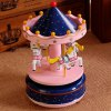 Wooden Merry-go-round Carousel Wind-up Music Box Wedding Gift Toy House Decoration deal