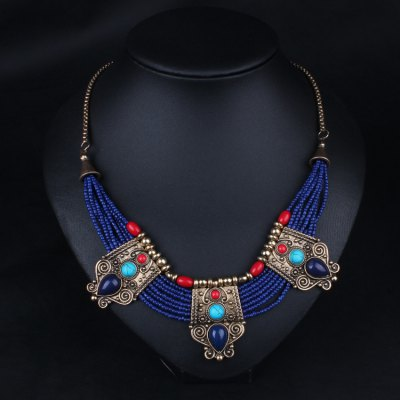 Ethnic Style Female Necklace Sweater Chain