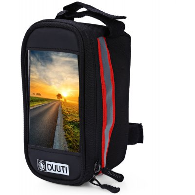 DUUTI Bicycle Frame Bike Phone Holder Waterproof Bag Case