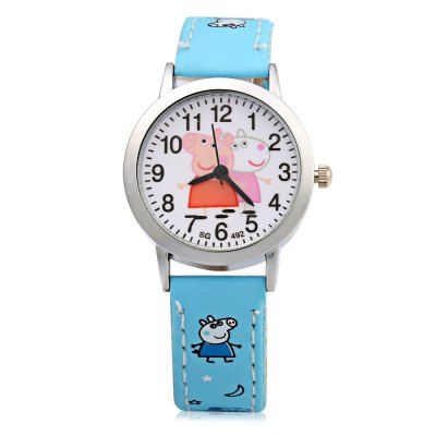 492 Pig Pattern Children Quartz Watch with Arabic Number ScaleKids Watches<br>492 Pig Pattern Children Quartz Watch with Arabic Number Scale<br><br>Watches categories: Children table<br>Watch style: Childlike,Lovely<br>Watch color: Lake blue, Blue, Red, Rose, Pink, Yellow, White<br>Movement type: Quartz watch<br>Shape of the dial: Round<br>Display type: Analog<br>Case material: Stainless Steel<br>Band material: Leather<br>Clasp type: Pin buckle<br>Dial size: 2.7 x 2.7x 0.8 cm / 1.06 x 1.06 x 0.31 inches<br>Band size: 21.0 x 1.4 cm / 8.27 x 0.55 inches<br>Wearable length: 15.0 - 18.8 cm / 5.91 - 7.40 inches<br>Product weight: 0.017 kg<br>Package weight: 0.047 kg<br>Product size (L x W x H): 21.00 x 3.00 x 0.80 cm / 8.27 x 1.18 x 0.31 inches<br>Package size (L x W x H): 22.00 x 4.00 x 1.80 cm / 8.66 x 1.57 x 0.71 inches<br>Package Contents: 1 x Watch