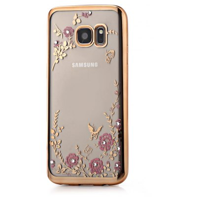 Protective Electroplated Case for Samsung Galaxy S7 Flower Pattern