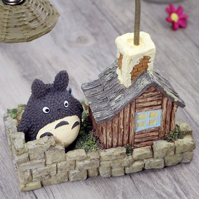 Night Light Polyresin Micro Landscape Animation Figure Model Home Office Ornament Birthday Gift