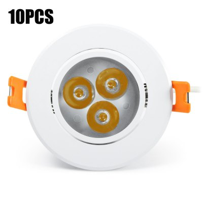 10PCS YouOKLight 450Lm 3W 3000K LED Down Light