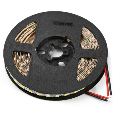 BRELONG 5M 48W 120 x SMD 2835 / M Flexible LED Light StripLED Strips<br>BRELONG 5M 48W 120 x SMD 2835 / M Flexible LED Light Strip<br><br>Actual Lumens: 3500LM<br>Brand: BRELONG<br>CCT/Wavelength: 6000-6500K<br>Connector Type: US plug, EU plug<br>Features: Low Power Consumption<br>Input Voltage: AC100-240<br>LED Type: SMD-2835<br>Material: FPC<br>Number of LEDs: 600 x SMD 2835 / 5M, 120 x SMD 2835 / M<br>Optional Light Color: White<br>Output Voltage: DC 12V<br>Package Contents: 1 x BRELONG LED Strip Light, 1 x Adapter, 1 x Cable<br>Package size (L x W x H): 22.00 x 20.00 x 6.00 cm / 8.66 x 7.87 x 2.36 inches<br>Package weight: 0.365 kg<br>Product size (L x W x H): 500.00 x 0.50 x 0.20 cm / 196.85 x 0.20 x 0.08 inches<br>Product weight: 0.302 kg<br>Rated Current (A): 5A<br>Rated Power (W): 48W<br>Theoretical Lumens: 4000LM<br>Type: LED Strip