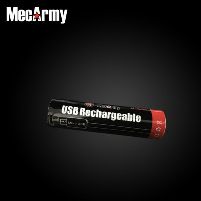Mecarmy U18 - 34 3400mAh USB Rechargeable 18650 Li-ion BatteryMecarmy U18 - 34 3400mAh USB Rechargeable 18650 Li-ion Battery<br><br>Type: Battery<br>Brand: MecArmy<br>Rechargeable: Yes<br>Protected: No<br>Capacity (mAh): 3400mAh<br>Voltage(V): 5V<br>Suitable for: Car toys,CD Players,Digital Camera,Flashlight,MD,PDA,Portable Games,RC Toys<br>Product weight: 0.040 kg<br>Package weight: 0.060 kg<br>Product size (L x W x H): 7.06 x 1.70 x 1.70 cm / 2.78 x 0.67 x 0.67 inches<br>Package size (L x W x H): 9.00 x 5.00 x 5.00 cm / 3.54 x 1.97 x 1.97 inches<br>Package Contents: 1 x Mecarmy U18-34 18650 Li-ion Battery