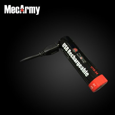 Mecarmy U18 - 34 18650 3400mAh USB Rechargeable Lithium-ion Battery