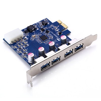 PCI-E to USB 3.0 Adapter Card with 4 USB Ports
