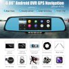 best Junsun A700 Android Car Rearview Mirror GPS Navigator DVR with Free Map