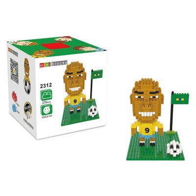 2312 275Pcs Football Star Figure Style ABS Building Block