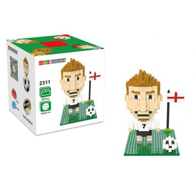 2311 337Pcs Football Star Figure Shape ABS Building Block Educational Decoration Toy for Spatial Thinking