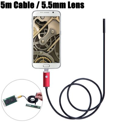 NV99-R5-5.5 2 in 1 5.5mm Lens Android PC Endoscope