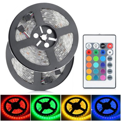 2pcs HML 6000Lm 5M 60 x SMD5050 / M 72W Waterproof RGB LED Tape Light