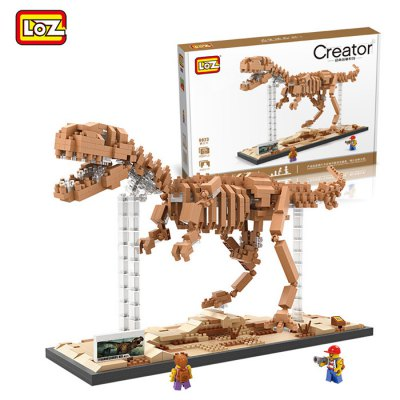LOZ 9023 880Pcs ABS Tyrannosaurus Rex Building Block Toy for Enhancing Social Cooperation AbilityBlock Toys<br>LOZ 9023 880Pcs ABS Tyrannosaurus Rex Building Block Toy for Enhancing Social Cooperation Ability<br><br>Brand: LOZ<br>Product Model: 9023<br>Type: Building Blocks<br>Age: 14 Years+<br>Material: ABS<br>Design Style: Cartoon<br>Features: DIY<br>Puzzle Style: 3D Puzzle<br>Small Parts : Yes<br>Washing: Yes<br>Applicable gender: Unisex<br>Product weight: 0.280 kg<br>Package weight: 0.390 kg<br>Product size (L x W x H): 24.00 x 8.00 x 17.00 cm / 9.45 x 3.15 x 6.69 inches<br>Package size (L x W x H): 28.00 x 20.00 x 5.00 cm / 11.02 x 7.87 x 1.97 inches<br>Package Contents: 880 x Module, 1 x Operation Instruction