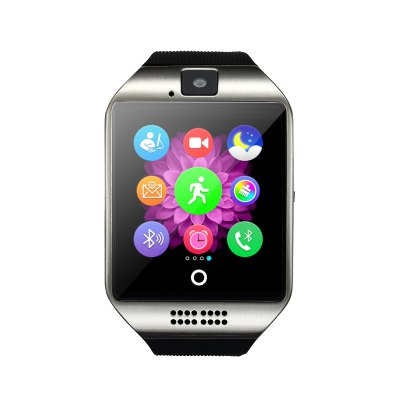 1.54 inch Q18 Smartwatch PhoneSmart Watch Phone<br>1.54 inch Q18 Smartwatch Phone<br><br>Type: Watch Phone<br>CPU: MTK6261<br>RAM: 32MB<br>ROM: 32MB<br>External Memory: TF card up to 32GB (not included)<br>Wireless Connectivity: Bluetooth,NFC<br>Network type: GSM<br>Frequency: GSM850/900/1800/1900MHz<br>Bluetooth: Yes<br>Bluetooth version: V3.0<br>Screen type: Capacitive<br>Screen size: 1.54 inch<br>Screen resolution: 240 x 240<br>Camera type: Single camera<br>Front camera: 0.057MP<br>SIM Card Slot: Single SIM(Micro SIM slot)<br>TF card slot: Yes<br>Micro USB Slot: Yes<br>Picture format: GIF,PNG<br>Music format: AAC,WAV<br>Languages: English, French, Spanish, Polish, Portuguese, Italian, German, Dutch, Turkish, Russian<br>Additional Features: 2G,Alarm,Bluetooth,Calendar,MP3,Notification,People,Sound Recorder<br>Functions: Facebook,Message,Pedometer,Remote Camera,Sedentary reminder,Sleep monitoring<br>Cell Phone: 1<br>Battery: Built-in 500mAh Battery<br>USB Cable: 1<br>English Manual : 1<br>Product size: 6.00 x 4.00 x 1.25 cm / 2.36 x 1.57 x 0.49 inches<br>Package size: 10.00 x 10.00 x 6.00 cm / 3.94 x 3.94 x 2.36 inches<br>Product weight: 0.070 kg<br>Package weight: 0.220 kg