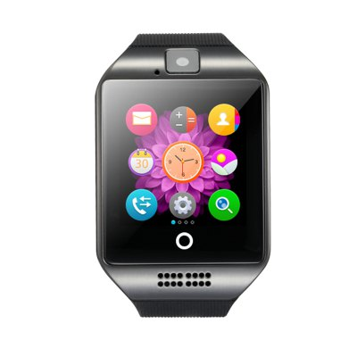 1.54 inch Q18 Smartwatch PhoneSmart Watch Phone<br>1.54 inch Q18 Smartwatch Phone<br><br>Additional Features: Notification, MP3, Sound Recorder, People, 2G, Alarm, Bluetooth, Calendar<br>Battery: Built-in 500mAh Battery<br>Bluetooth: Yes<br>Bluetooth Version: V3.0<br>Camera type: Single camera<br>Cell Phone: 1<br>CPU: MTK6261<br>English Manual : 1<br>External Memory: TF card up to 32GB (not included)<br>Frequency: GSM850/900/1800/1900MHz<br>Front camera: 0.057MP<br>Functions: Sleep monitoring, Facebook, Message, Sedentary reminder, Remote Camera, Pedometer<br>Languages: English, French, Spanish, Polish, Portuguese, Italian, German, Dutch, Turkish, Russian<br>Micro USB Slot: Yes<br>Music format: WAV, AAC<br>Network type: GSM<br>Package size: 10.00 x 10.00 x 6.00 cm / 3.94 x 3.94 x 2.36 inches<br>Package weight: 0.220 kg<br>Picture format: PNG, GIF<br>Product size: 6.00 x 4.00 x 1.25 cm / 2.36 x 1.57 x 0.49 inches<br>Product weight: 0.070 kg<br>RAM: 32MB<br>ROM: 32MB<br>Screen resolution: 240 x 240<br>Screen size: 1.54 inch<br>Screen type: Capacitive<br>SIM Card Slot: Single SIM(Micro SIM slot)<br>TF card slot: Yes<br>Type: Watch Phone<br>USB Cable: 1<br>Wireless Connectivity: NFC, Bluetooth