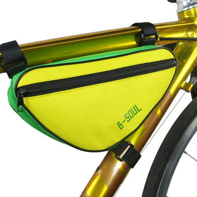 B-SOUL 1.5L Bicycle Front Tube Triangle BagBike Bags<br>B-SOUL 1.5L Bicycle Front Tube Triangle Bag<br><br>Brand: B-SOUL<br>Emplacement: Front Tube<br>For: Unisex<br>Material: Nylon, Oxford Fabric<br>Package Contents: 1 x B-SOUL Bicycle Triangle Bag<br>Package Dimension: 27.50 x 13.50 x 7.50 cm / 10.83 x 5.31 x 2.95 inches<br>Package weight: 0.120 kg<br>Product Dimension: 27.00 x 13.00 x 7.00 cm / 10.63 x 5.12 x 2.76 inches<br>Product weight: 0.080 kg<br>Suitable for: Mountain Bicycle, Road Bike