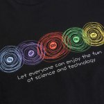 Original Xiaomi Colorful Circle Short Sleeves T-shirt for sale