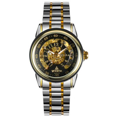 WOERDA Business Style Black Men Automatic Mechanical Watch