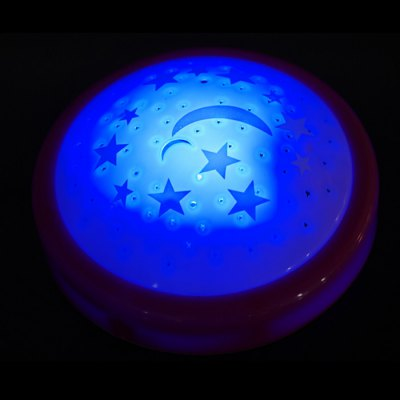 Colorful Star Moon Projection LED Night Light Battery Operated
