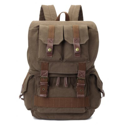 29L Canvas Photography Bag Outdoor Backpack