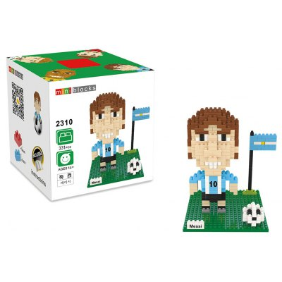 2310 331Pcs Football Star Figure Shape ABS Building Block Educational Decoration Toy for Spatial Thinking