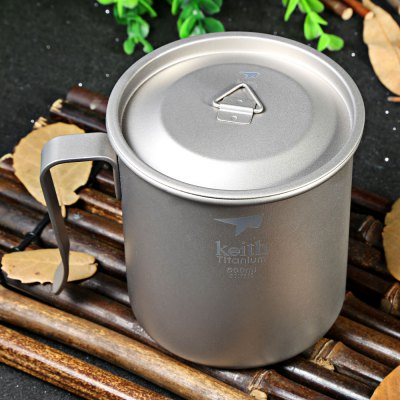 Keith Ti3265 500mL Titanium Cup Fixed Handle