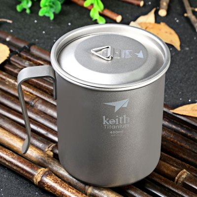 Keith Ti3264 450mL Titanium Cup Fixed Handle