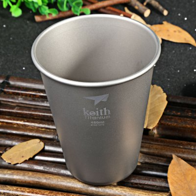 Keith Ti9002 450mL Strong Titanium Beer Cup for Camping