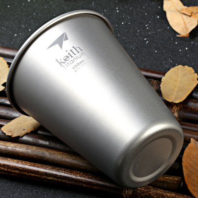 Keith Ti9002 450mL Strong Titanium Beer Cup for CampingCamp Kitchen<br>Keith Ti9002 450mL Strong Titanium Beer Cup for Camping<br><br>Brand: Keith<br>Model Number: Ti9002<br>Type: Tableware<br>Material: Titanium<br>Color: Titanium Grey<br>Best Use: Backpacking,Camping,Climbing,Hiking<br>Features: Durable,Easy to use,Ultralight<br>Capacity: 400-500ml<br>Product weight: 0.043 kg<br>Package weight: 0.180 kg<br>Product Dimension: 9.50 x 9.50 x 11.30 cm / 3.74 x 3.74 x 4.45 inches<br>Package Dimension: 10.50 x 10.50 x 12.20 cm / 4.13 x 4.13 x 4.80 inches<br>Package Contents: 1 x Keith Ti9002 Titanium Beer Cup