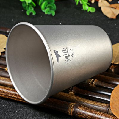 Keith Ti9001 350mL Strong Titanium Beer Cup for Camping