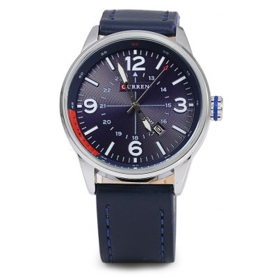 CURREN 8215 Business Style Male Quartz WatchMens Watches<br>CURREN 8215 Business Style Male Quartz Watch<br><br>Brand: Curren<br>Watches categories: Male table<br>Watch style: Business<br>Available color: Coffee,Deep Blue,Gray,Orange,Red,White<br>Movement type: Quartz watch<br>Shape of the dial: Round<br>Display type: Analog<br>Case material: Stainless Steel<br>Band material: Leather<br>Clasp type: Pin buckle<br>Special features: Date<br>Water resistance : Life water resistant<br>Dial size: 4.7 x 4.7 x 1.2 cm / 1.85 x 1.85 x 0.47 inches<br>Band size: 25.5 x 2.2 cm / 10.04 x 0.87 inches<br>Wearable length: 19 - 23 cm / 7.48 - 9.06 inches<br>Product weight: 0.056 kg<br>Package weight: 0.089 kg<br>Product size (L x W x H): 25.50 x 4.70 x 1.20 cm / 10.04 x 1.85 x 0.47 inches<br>Package size (L x W x H): 26.50 x 5.70 x 2.20 cm / 10.43 x 2.24 x 0.87 inches<br>Package Contents: 1 x CURREN 8215 Male Quartz Watch