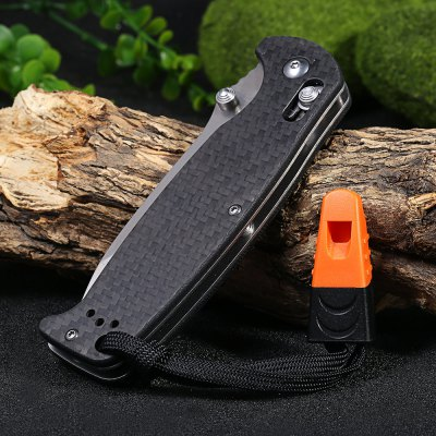 Ganzo G741-1CF-WS Axis Lock Folding Knife with Tactical Blade