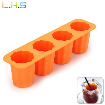 LHS Silicone DIY Ice Mold with 4 Grids