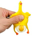 Creative Vent Squeeze-egg Key Ring Trick Game Toy Wacky Gift