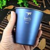 Keith Ti9011 350mL Blue Titanium Cup for Camping photo