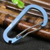 Keith Ti1122 Blue Titanium Carabiner for Camping