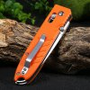 best Ganzo G746-1-OR Axis Lock Folding Knife