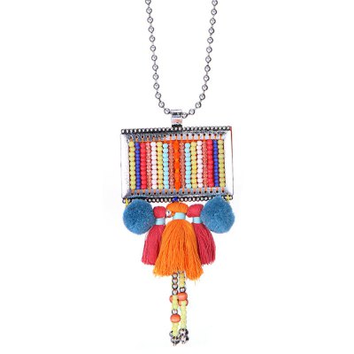 Bohemian Artificial Colorful Beads Necklace for Ladies