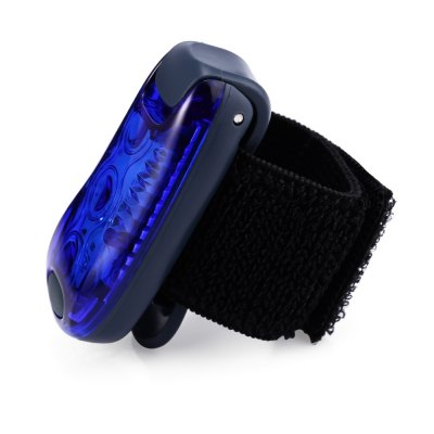 Walking Running Cycling 3 LEDs Light with Clip