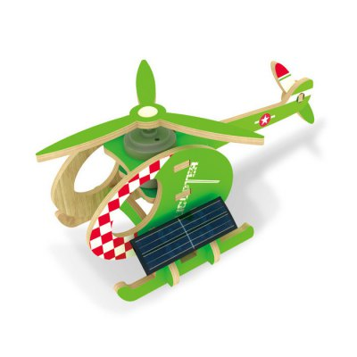Solar Helicopter Bee P230 Jigsaw Puzzle Building Blocks Environmental DIY Toy