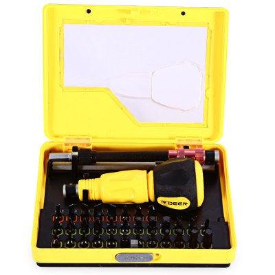 ROBUST DEER 34 in 1 Chrome Vanadium Steel Screwdriver KitTool Kit<br>ROBUST DEER 34 in 1 Chrome Vanadium Steel Screwdriver Kit<br><br>Brand: ROBUST DEER<br>Steel Material  : Chrome Vanadium Steel<br>Screw Head Type: All-in-One<br>Special function: Repair Tool<br>Package weight: 0.555 kg<br>Package size (L x W x H): 15.00 x 11.50 x 3.40 cm / 5.91 x 4.53 x 1.34 inches<br>Package Contents: 31 x Screwdriver Bit, 1 x Handle, 1 x Extension Rod, 1 x Universal Joint Rod