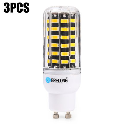 3 x BRELONG 1200Lm GU10 12W SMD 5733 64 LED Corn Light