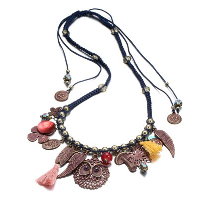 Winter Handmade Necklace with Tassel for Ladies