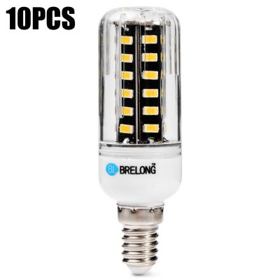 10pcs BRELONG 900Lm E14 9W 42 x SMD 5733 LED Corn Light Bulb